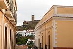 Tower and Moorish mosque at Almonaster La Real, Sierra de Aracena, Huelva province, Spain