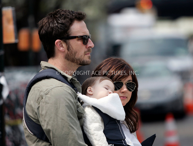 WWW.ACEPIXS.COM . . . . .  ....April 18 2011, New York City....Actress Tiffani Thiessen with her husband Brady Smith and their 10-month-old daughter Harper walking in the Matpacking District on April 18 2011 in New York City....Please byline: CURTIS MEANS - ACE PICTURES.... *** ***..Ace Pictures, Inc:  ..Philip Vaughan (212) 243-8787 or (646) 679 0430..e-mail: info@acepixs.com..web: http://www.acepixs.com