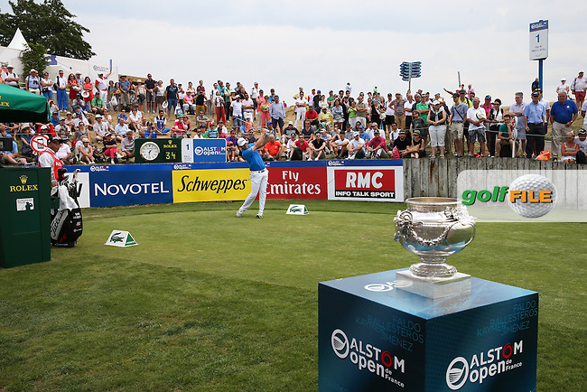 Bernd Wiesberger (AUT) on the first tee during the Final Round of the 2015 Alstom Open de France, played at Le Golf National, Saint-Quentin-En-Yvelines, Paris, France. /05/07/2015/. Picture: Golffile | David Lloyd<br /> <br /> All photos usage must carry mandatory copyright credit (&copy; Golffile | David Lloyd)