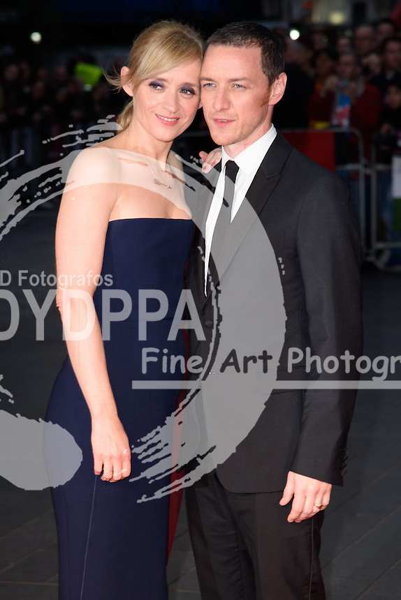Anne Marie Duff and James McAvoy<br /> attends the &quot;Suffragette&quot; premiere which is the opening gala of the London Film Festival 2015, Odeon Leicester Square, London<br /> <br /> &copy;Ash Knotek  D3022  07/10/2015