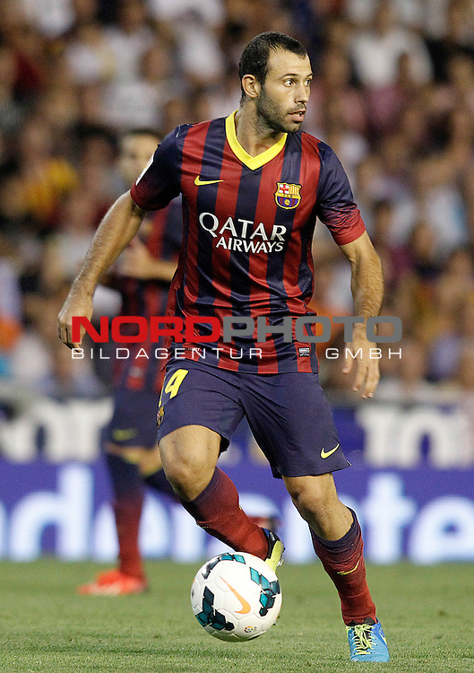 FC Barcelona's Javier Mascherano during La Liga match.September 1,2013. Foto © nph / Acero)