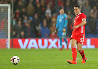James Chester of Wales during the international friendly soccer match between Wales and Panama at Cardiff City Stadium, Cardiff, Wales, UK. Tuesday 14 November 2017.