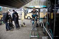 Tom Meeusen (BEL/Telenet-Fidea) warming up<br /> <br /> Soudal Classic Leuven 2016