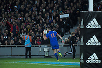 France's Remy Grosso scores during the Steinlager Series international rugby match between the New Zealand All Blacks and France at Eden Park in Auckland, New Zealand on Saturday, 9 June 2018. Photo: Dave Lintott / lintottphoto.co.nz