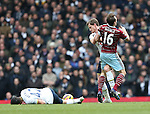 Tottenham's Jan Vertonghen tussles with West Ham's Mark Noble<br /> <br /> Barclays Premier League - Tottenham Hotspur  vs West Ham  - White Hart Lane - England - 22nd February 2015 - Picture David Klein/Sportimage