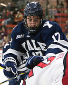 Frankie DiChiara (Yale - 17) - The visiting Yale University Bulldogs defeated the Harvard University Crimson 2-1 (EN) on Saturday, November 15, 2014, at Bright-Landry Hockey Center in Cambridge, Massachusetts.