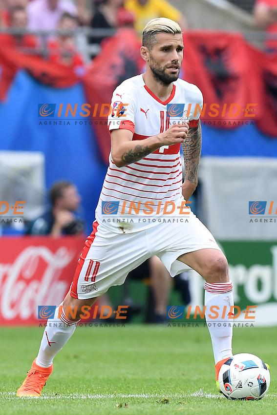Lens 11-06-2016 Stade Bollaert-Delelis Football  - Euro 2016 / Albania - Switzerland / foto Matteo Gribaudi/Image Sport/Insidefoto<br />nella foto: Valon Behrami