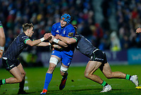 4th January 2020; RDS Arena, Dublin, Leinster, Ireland; Guinness Pro 14 Rugby, Leinster versus Connacht; Ryan Baird of Leinster is tackled by Kyle Godwin of Connacht - Editorial Use