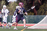 Manhattan Beach, CA 02-11-17 - Bo Kendall (Santa Clara #17) and Ren-Taylor Chang (Loyola Marymount #20) in action during the MCLA non-conference game between LMU (SLC) and Santa Clara (WCLL).  Santa Clara defeated LMU 18-3.