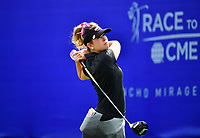 Paula Creamer, of the United States, plays her shot from the first tee during the third round of the ANA Inspiration at the Mission Hills Country Club in Palm Desert, California, USA. 3/31/18.<br /> <br /> Picture: Golffile | Bruce Sherwood<br /> <br /> <br /> All photo usage must carry mandatory copyright credit (&copy; Golffile | Bruce Sherwood)during the second round of the ANA Inspiration at the Mission Hills Country Club in Palm Desert, California, USA. 3/31/18.<br /> <br /> Picture: Golffile | Bruce Sherwood<br /> <br /> <br /> All photo usage must carry mandatory copyright credit (&copy; Golffile | Bruce Sherwood)