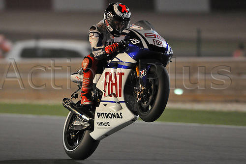 10 04 2010  ImagePhoto GN Losail Qatar 10 04 2010  Libere MotoGP Photo Giorgio   Jorge Lorenzo . Action from the FIM MotoGP Qatar World Cup.