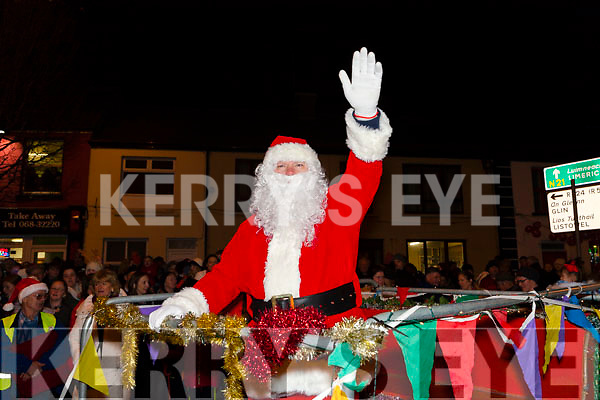 Pictured at the Abbeyfeale Switch On The Christmas Lights on Friday December 1st were Santa Claus arrives.