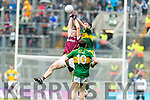 Daniel O'Brien Kerry in action against Sean Raftery  Galway in the All Ireland Minor Football Final in Croke Park on Sunday.