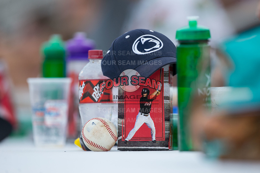 The first 200 fans ages 12 and under received a bobble head of former Kannapolis Intimidators infielder and Olympic silver medalist Eddie Alvarez prior to the game against the Greensboro Grasshoppers at Kannapolis Intimidators Stadium on August 13, 2017 in Kannapolis, North Carolina.  The Grasshoppers defeated the Intimidators 3-0.  (Brian Westerholt/Four Seam Images)