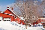 Quechee Fells barn, Quechee, VT, USA