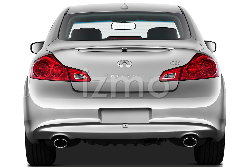 Straight rear view of a 2011 Infiniti G25 Journey Sedan