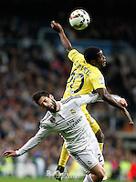 Real Madrid´s Spanish midfielder Isco Alarcon and Villareal´s J. Campbell
