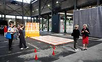 Nederland -Zaandam- 2019.  BIG ART op het Hembrugterrein. Het Hembrugterrein was als hart van de Nederlandse militaire industrie lange tijd afgesloten gebied, maar bruist nu van ondernemerschap en creativiteit. Tijdens BIG ART Hembrug 2019 worden tientallen XL-kunstwerken getoond.      Foto mag niet in negatieve context worden gepubliceerd.    Foto Berlinda van Dam / Hollandse Hoogte