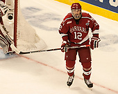 John Marino (Harvard - 12) - The University of Minnesota Duluth Bulldogs defeated the Harvard University Crimson 2-1 in their Frozen Four semi-final on April 6, 2017, at the United Center in Chicago, Illinois.