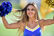 Newark, DE - OCT 29, 2016: Delaware Fightin Blue Hens cheerleaders perform during game between Towson and Delaware at Delaware Stadium Tubby Raymond Field in Newark, DE. (Photo by Phil Peters/Media Images International)
