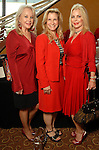 Marianne Kempner, Wendy Reeves and Sharon Frank at the American Heart Association Go Red for Women luncheon at the InterContinental Houston Monday May 04,2009.  (Dave Rossman/For the Chronicle)
