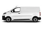 Car Driver side profile view of a 2017 Citroen Jumpy Business 5 Door Cargo Van Side View