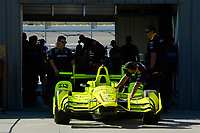 Verizon IndyCar Series<br /> Iowa Corn 300<br /> Iowa Speedway, Newton, IA USA<br /> Saturday 8 July 2017<br /> Simon Pagenaud's Team Penske Chevrolet rolls out of tech.<br /> World Copyright: F. Peirce Williams