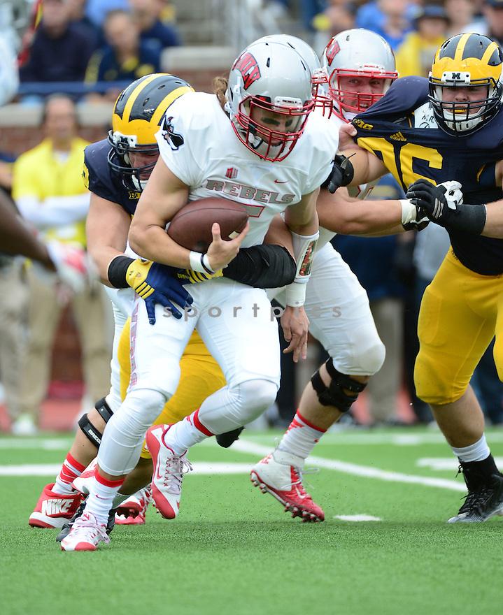UNLV Rebels Blake Decker (5) during a game against the Michigan Wolverines on September 19, 2015 at Michigan Stadium in Ann Arbor, MI. Michigan beat UNLV 28-7.