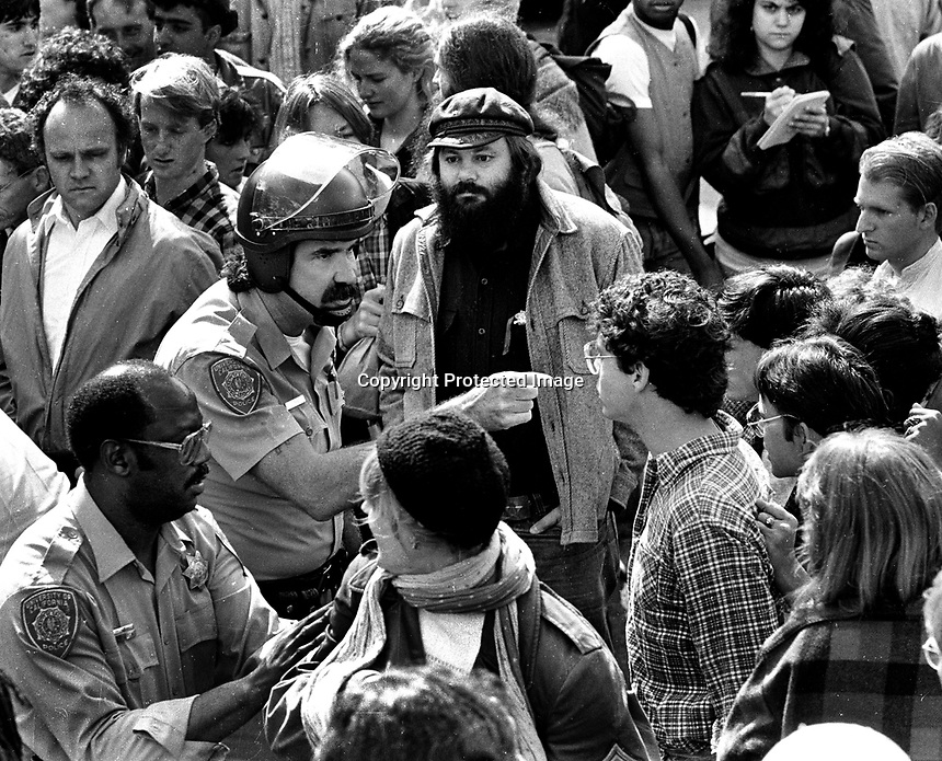 Demonstration at University of California in Berkeley.<br />