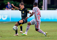 16th July 2020, Orlando, Florida, USA;  Columbus Crew forward Pedro Santos (7) during the MLS Is Back Tournament between the Columbus Crew SC versus New York Red Bulls on July 16, 2020 at the ESPN Wide World of Sports, Orlando FL.