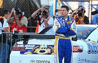 Feb 29, 2008; Las Vegas, NV, USA; NASCAR Sprint Cup Series driver David Reutimann during qualifying for the UAW Dodge 400 at Las Vegas Motor Speedway. Mandatory Credit: Mark J. Rebilas-
