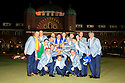 The victorious Team Europe  after the closing ceremony   of the 39th Ryder Cup matches, Medinah Country Club, Chicago, Illinois, USA.  28-30 September 2012 (Picture Credit / Phil Inglis)