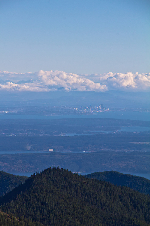Seattle, Puget Sound, Naval Submarine Base Bangor, from Mount Townsend trail, Olympic National Park, Olympic Peninsula, Washington State, Pacific Northwest, United States, North America, autumn, Seattle ground zero,