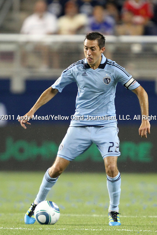 09 June 2011: Kansas City's Davy Arnaud. Sporting Kansas City played the Chicago Fire to a 0-0 tie in the inaugural game at LIVESTRONG Sporting Park in Kansas City, Kansas in a 2011 regular season Major League Soccer game.