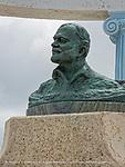 Commemorative bust of Hemingway in Cojimar