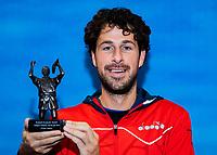 Alphen aan den Rijn, Netherlands, December 15, 2018, Tennispark Nieuwe Sloot, Ned. Loterij NK Tennis, Robin Haase (NED)  receives the tennis player of the year award <br /> Photo: Tennisimages/Henk Koster