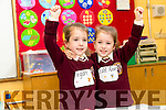 Twins Tiegan and Edel Rose Beer, pictured on their first day of school at Holy Family National School, Tralee on Monday last.