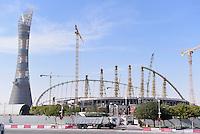 Fussball International FIFA WM 2022 in Katar 21.12.2014 Eine Aussenansicht der Baustelle des Khalifa Stadion, das Stadion wird fuer die WM 2022 umgebaut.