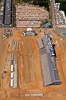 Aerial photo of a construction of the zMax Dragway in Concord, NC, taken May 2008.