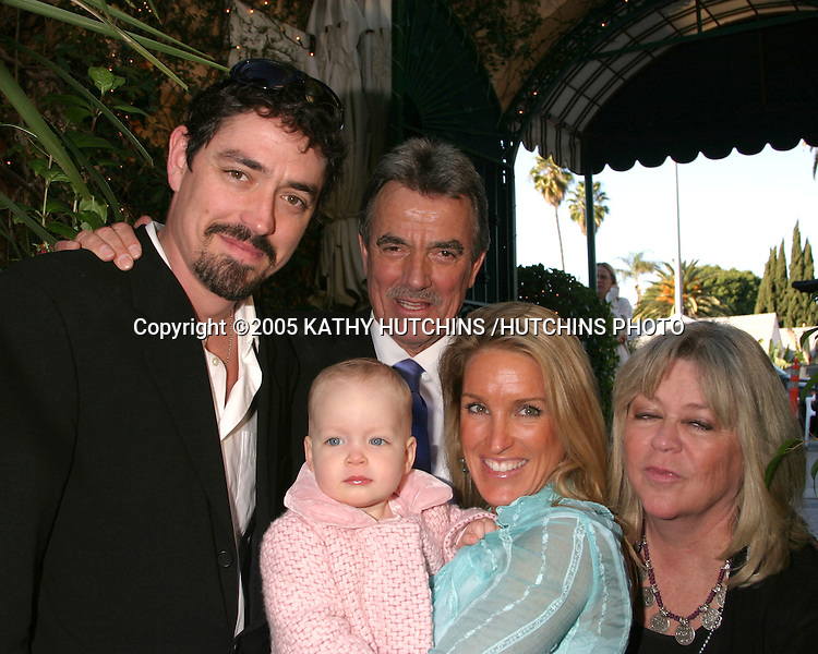©2005 KATHY HUTCHINS /HUTCHINS PHOTO.ERIC BRAEDEN CELEBRATES 25 YEARS AS ERIC BRAEDEN ON THE YOUNG AND THE RESTLESS.LOS ANGELES, CA.JANUARY 31, 2005..ERIC BRAEDEN AND HIS.WIFE DALE.SON CHRISTIAN GUDEGAST.AND HIS WIFE STACEY AND THEIR DAUGHTER TATIANA