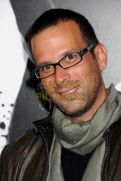 "MATTHEW SAND, Writer.""Ninja Assassin"" Los Angeles Premiere held at Grauman's Chinese Theatre, Hollywood, California, USA..November 19th, 2009.headshot portrait glasses grey gray scarf stubble facial hair .CAP/ADM/BP.©Byron Purvis/AdMedia/Capital Pictures."