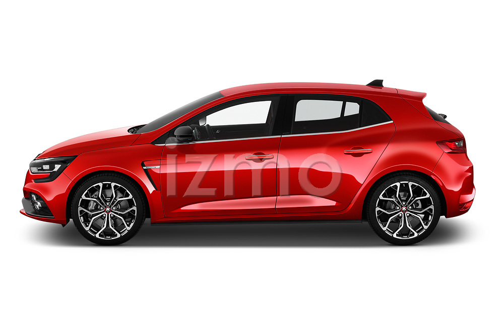 Car driver side profile view of a 2018 Renault Megane R.S. base 5 Door Hatchback