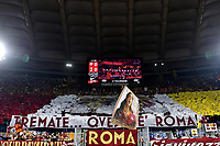AS Roma fans cheer on <br /> Roma 27-10-2019 Stadio Olimpico <br /> Football Serie A 2019/2020 <br /> AS Roma - AC Milan<br /> Foto Andrea Staccioli / Insidefoto