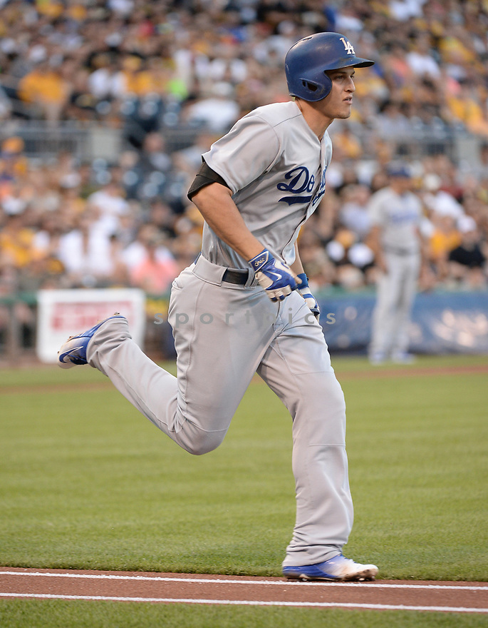 Los Angeles Dodgers Corey Seager (5) during a game against the Pittsburgh Pirates on June 26, 2016 at PNC Park in Pittsburgh, PA. The Dodgers beat the Pirates 4-3.