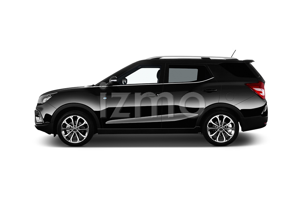 Car driver side profile view of a 2017 Ssangyong XLV Sapphire 5 Door SUV