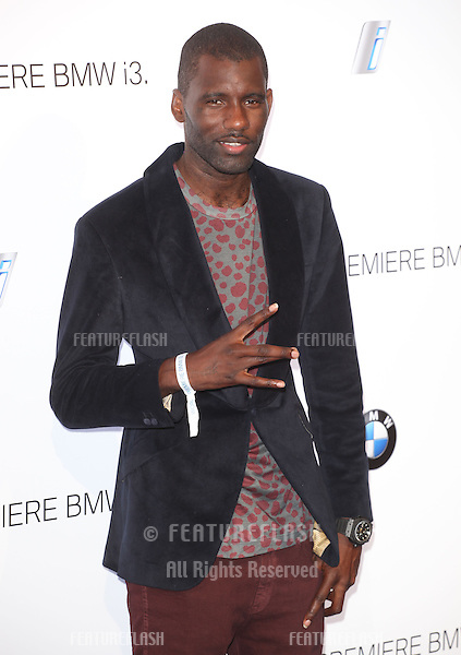Wretch 32 arriving for the BMW i3 Launch Party, at Old Billingsgate, London. 29/07/2013 Picture by: Alexandra Glen / Featureflash