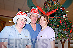 CHRISTMAS DAY WORKERS: Staff at Kerry General Hospital will take care of patients on Christmas day. From l-r were: Angela Hickey, Billy Donnelly and Mairead O'Connor.   Copyright Kerry's Eye 2008