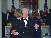Former U.S. President Jimmy Carter dances with his wife Rosalynn in the Foyer of the White House at the 200th Anniversary of the White House Dinner on November 9, 2000 in Washington, D.C. <br /> Credit: Ron Sachs / CNP