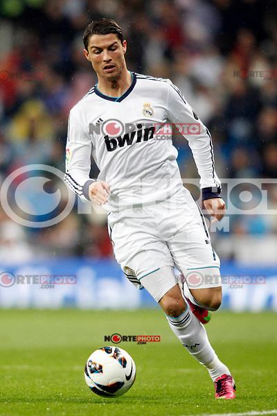Real Madrid vs Rayo Vallecano during La Liga Match, in the pic: Cristiano Ronaldo. February 17, 2013. (ALTERPHOTOS/Caro Marin) /NortePhoto