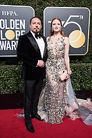 Barbara Meier and guest attend the 75th Annual Golden Globes Awards at the Beverly Hilton in Beverly Hills, CA on Sunday, January 7, 2018.<br /> *Editorial Use Only*<br /> CAP/PLF/HFPA<br /> &copy;HFPA/PLF/Capital Pictures